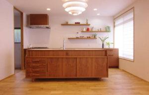 北欧デザインのキッチン
